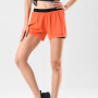 HEALY希利运动新品健身跑步弹力瑜伽训练女短裤防走光假两件