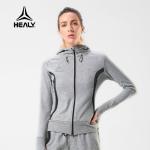 HEALY希利运动女卫衣秋冬健身休闲跑步保暖加长护手连帽训练套装